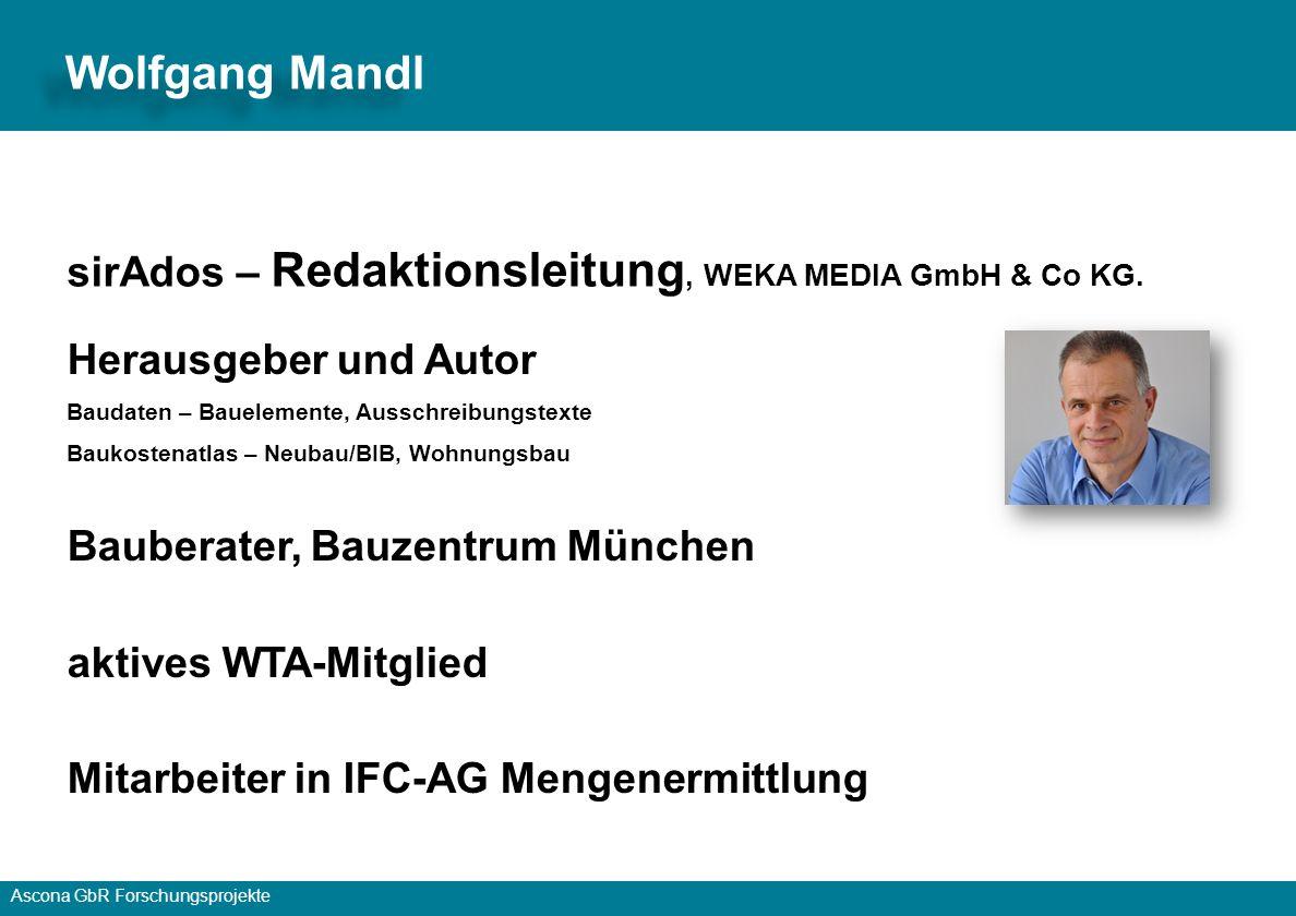 Wolfgang Mandl sirAdos – Redaktionsleitung, WEKA MEDIA GmbH & Co KG.