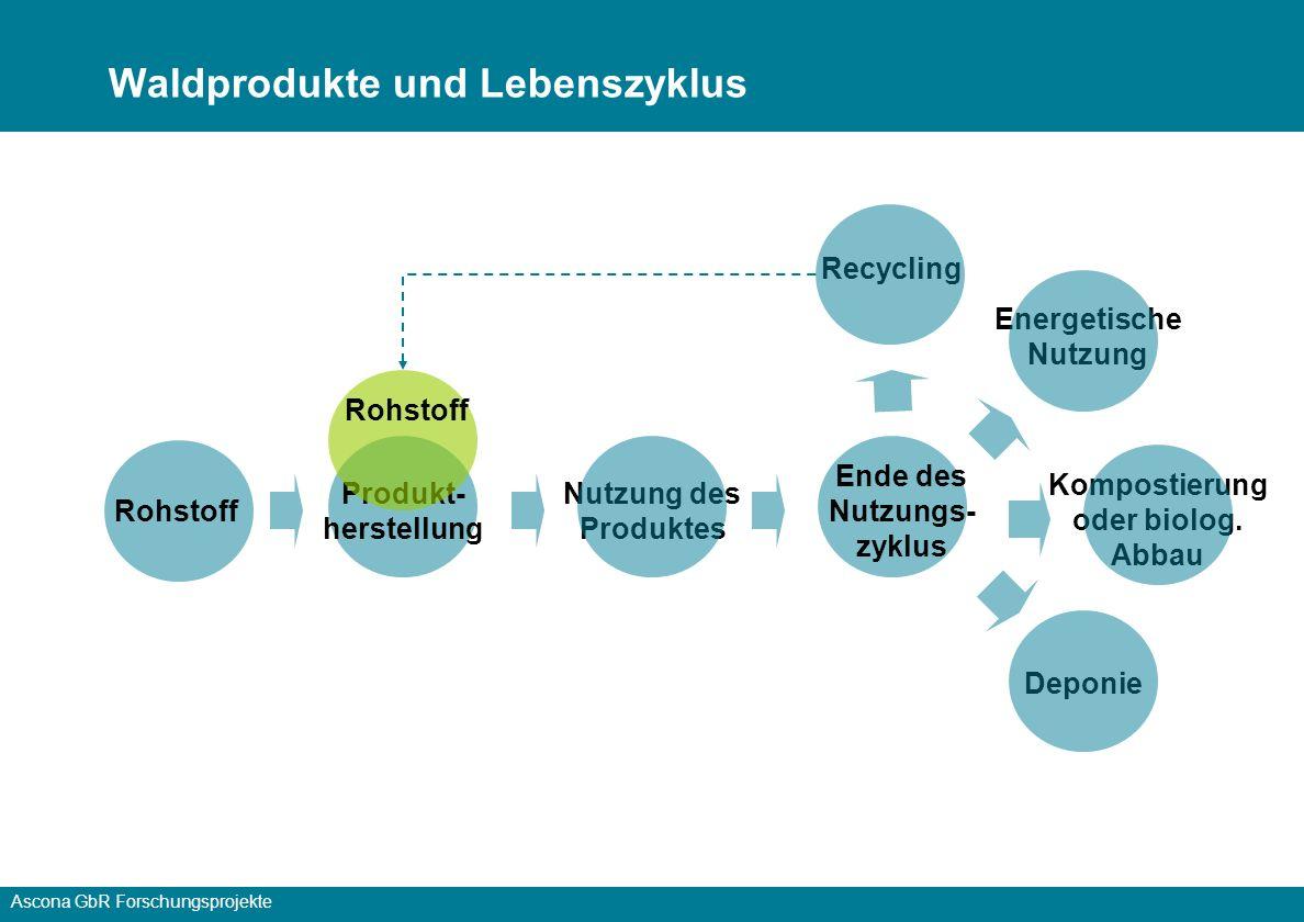 Waldprodukte und Lebenszyklus