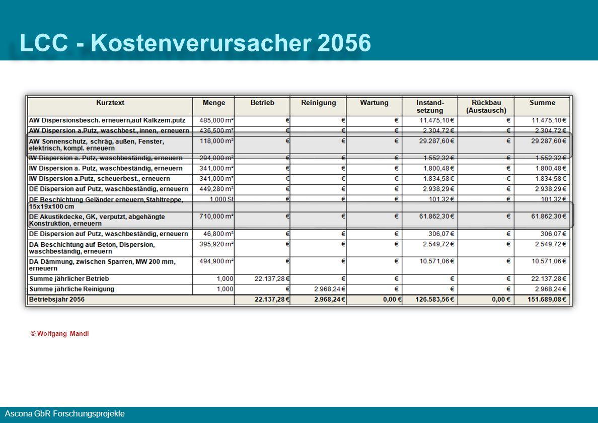 LCC - Kostenverursacher 2056