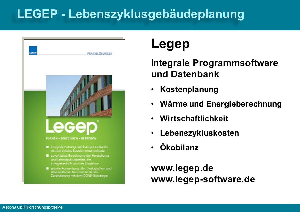 Legep LEGEP - Lebenszyklusgebäudeplanung