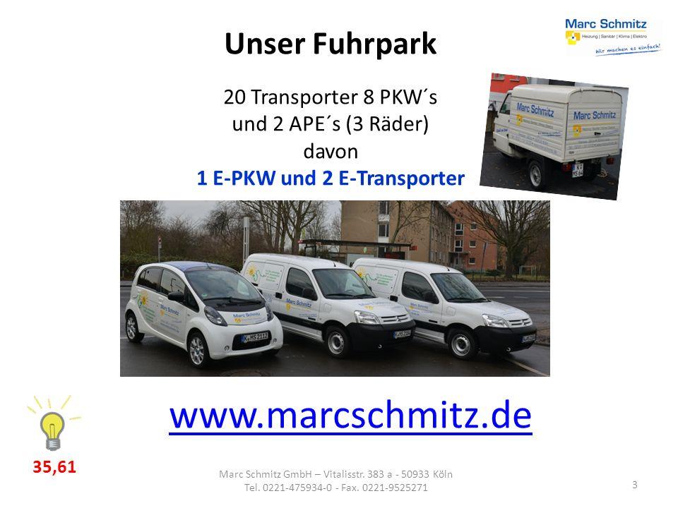 1 E-PKW und 2 E-Transporter