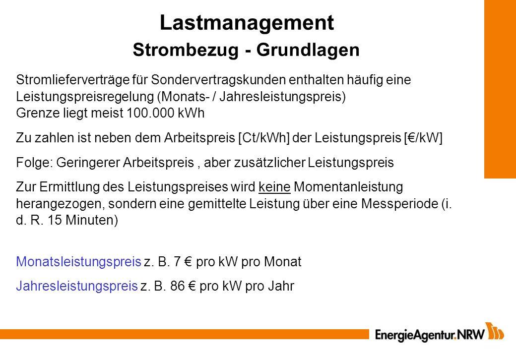 Lastmanagement Strombezug - Grundlagen