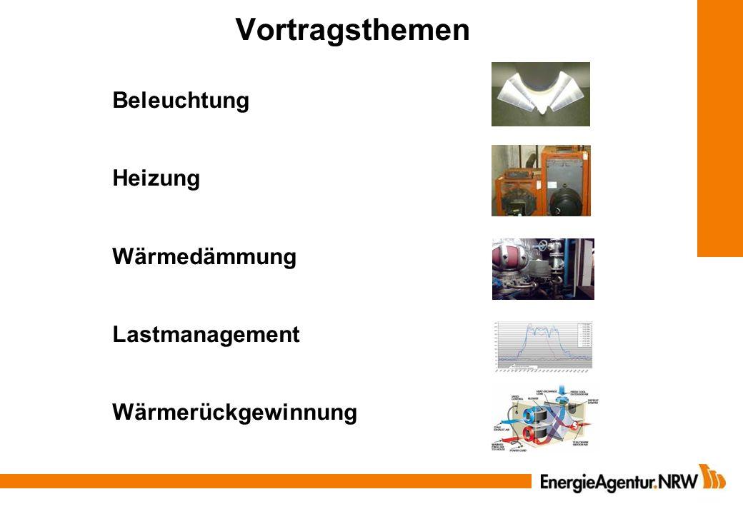 Vortragsthemen Beleuchtung Heizung Wärmedämmung Lastmanagement