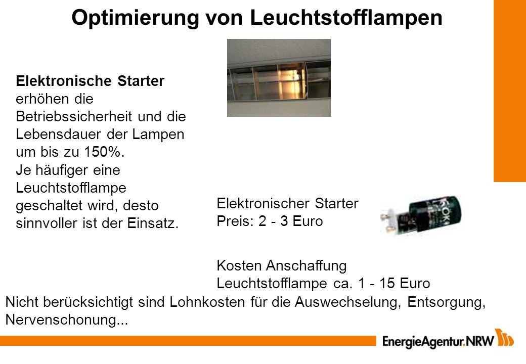 Optimierung von Leuchtstofflampen