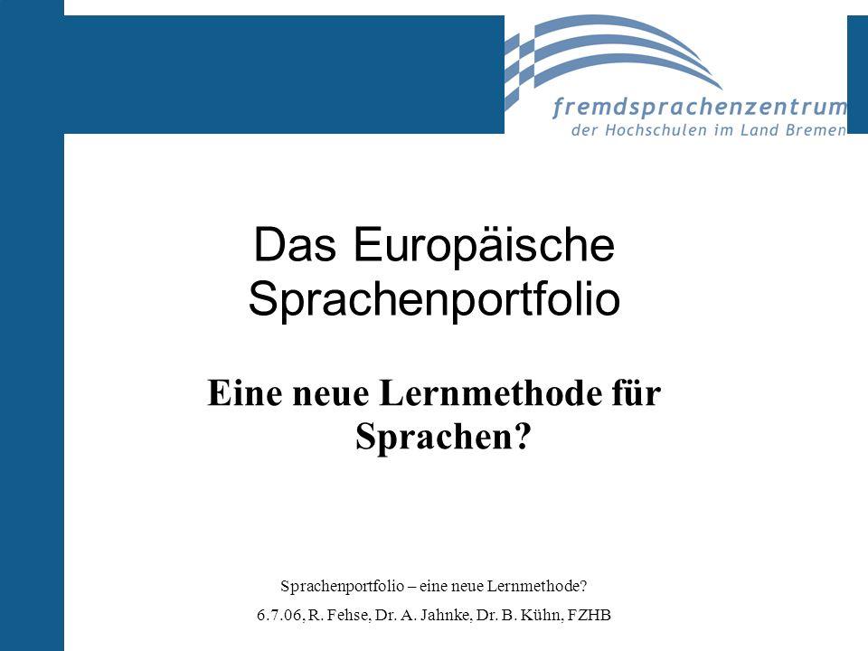 Das Europäische Sprachenportfolio