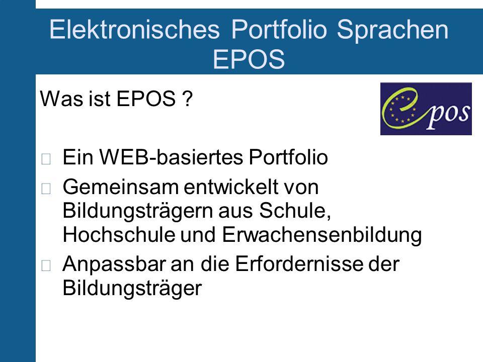 Elektronisches Portfolio Sprachen EPOS