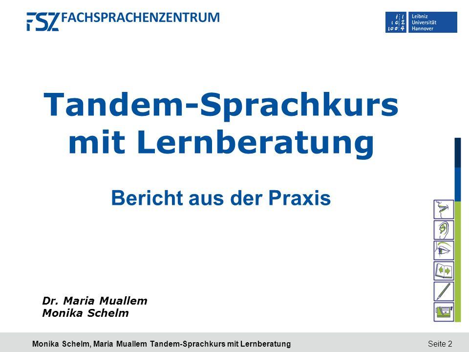 Tandem-Sprachkurs mit Lernberatung
