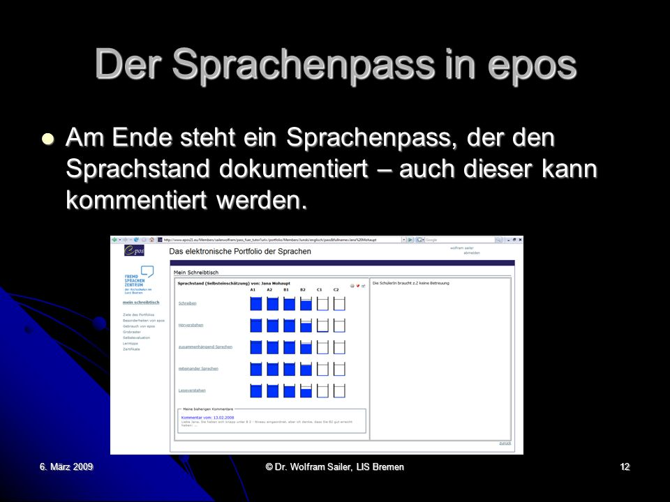 Der Sprachenpass in epos