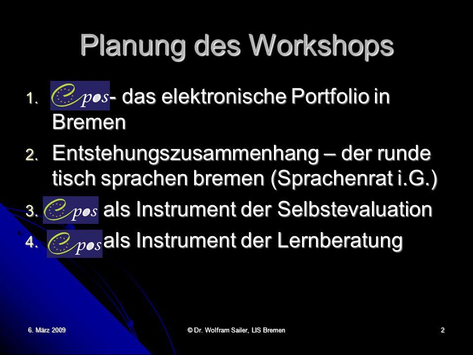 © Dr. Wolfram Sailer, LIS Bremen