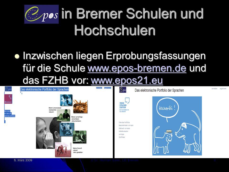 Epos in Bremer Schulen und Hochschulen