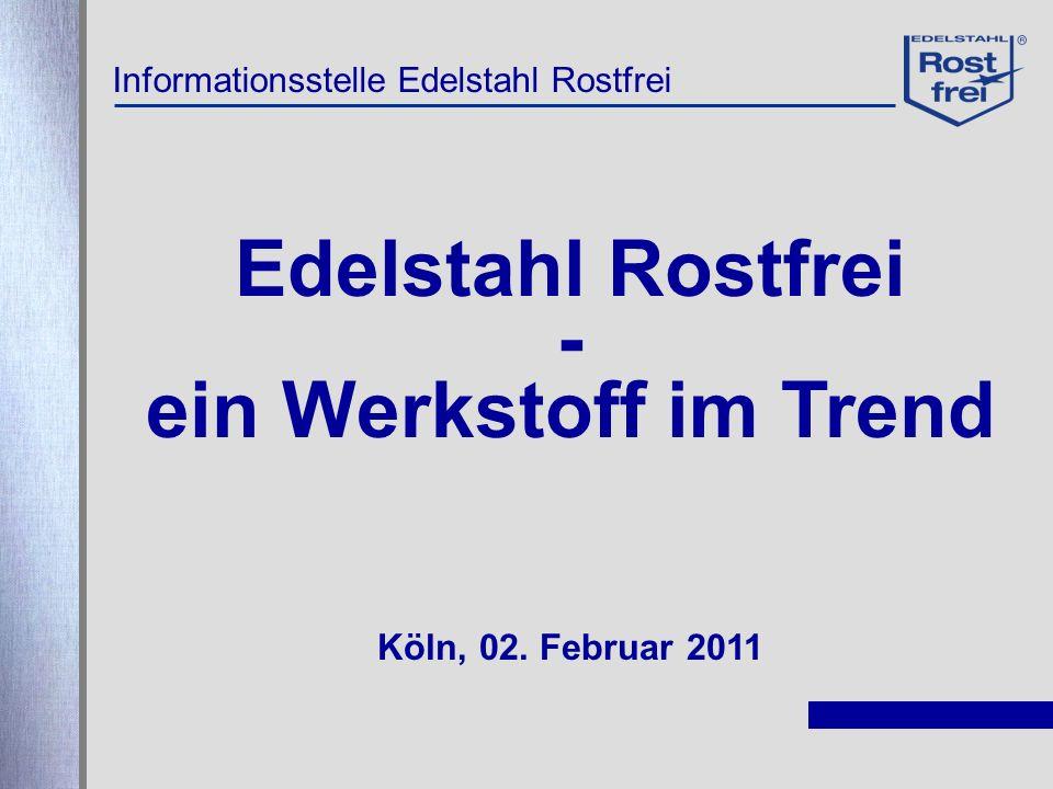 Edelstahl Rostfrei - ein Werkstoff im Trend