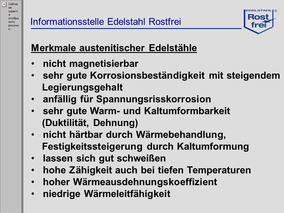 Merkmale austenitischer Edelstähle nicht magnetisierbar