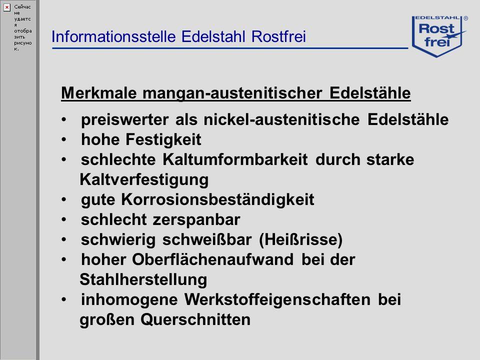 Merkmale mangan-austenitischer Edelstähle
