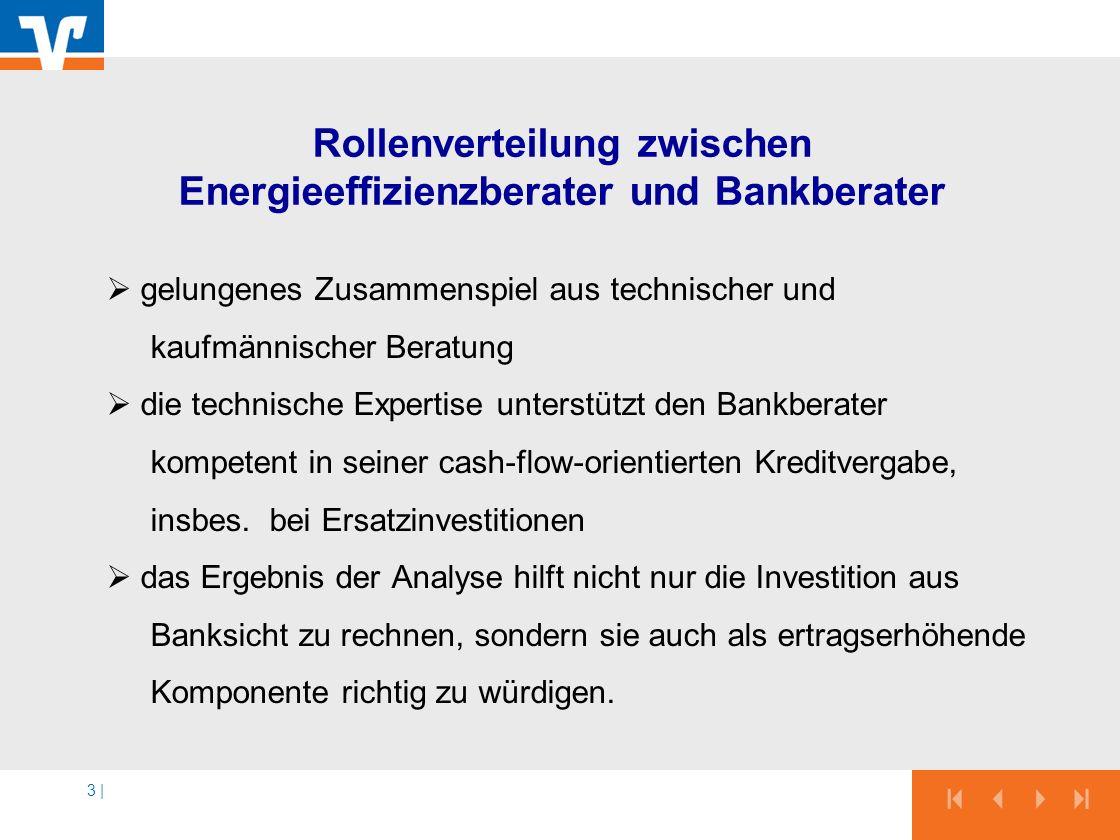 Rollenverteilung zwischen Energieeffizienzberater und Bankberater