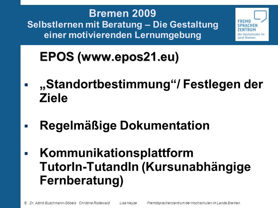 """""""Standortbestimmung / Festlegen der Ziele"""
