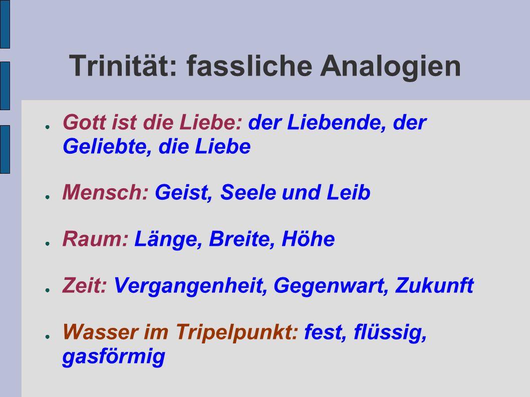 Trinität: fassliche Analogien