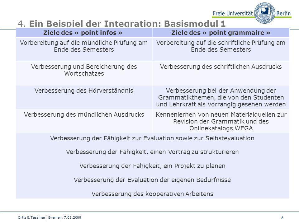 4. Ein Beispiel der Integration: Basismodul 1