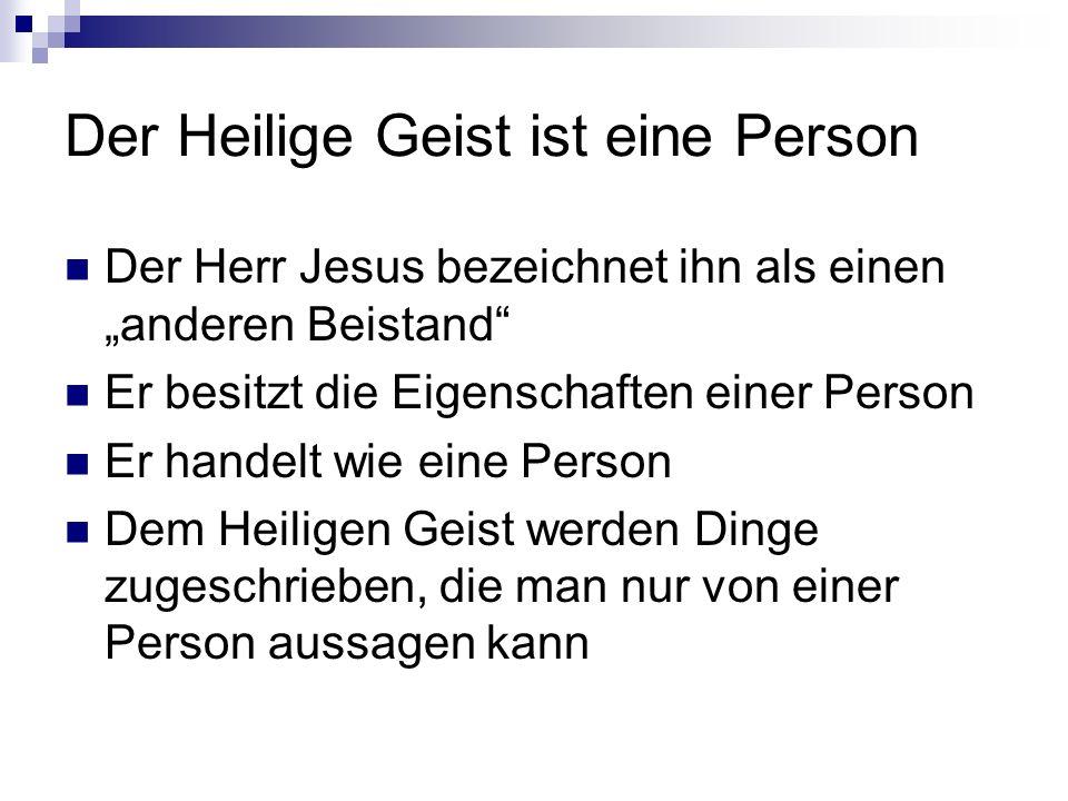 Der Heilige Geist ist eine Person