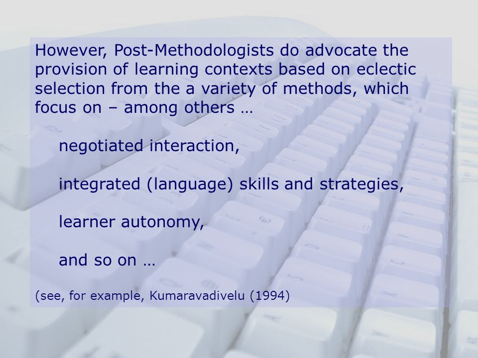 negotiated interaction, integrated (language) skills and strategies,