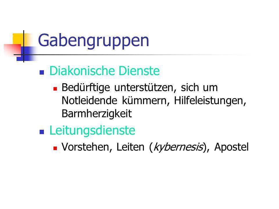 Gabengruppen Diakonische Dienste Leitungsdienste