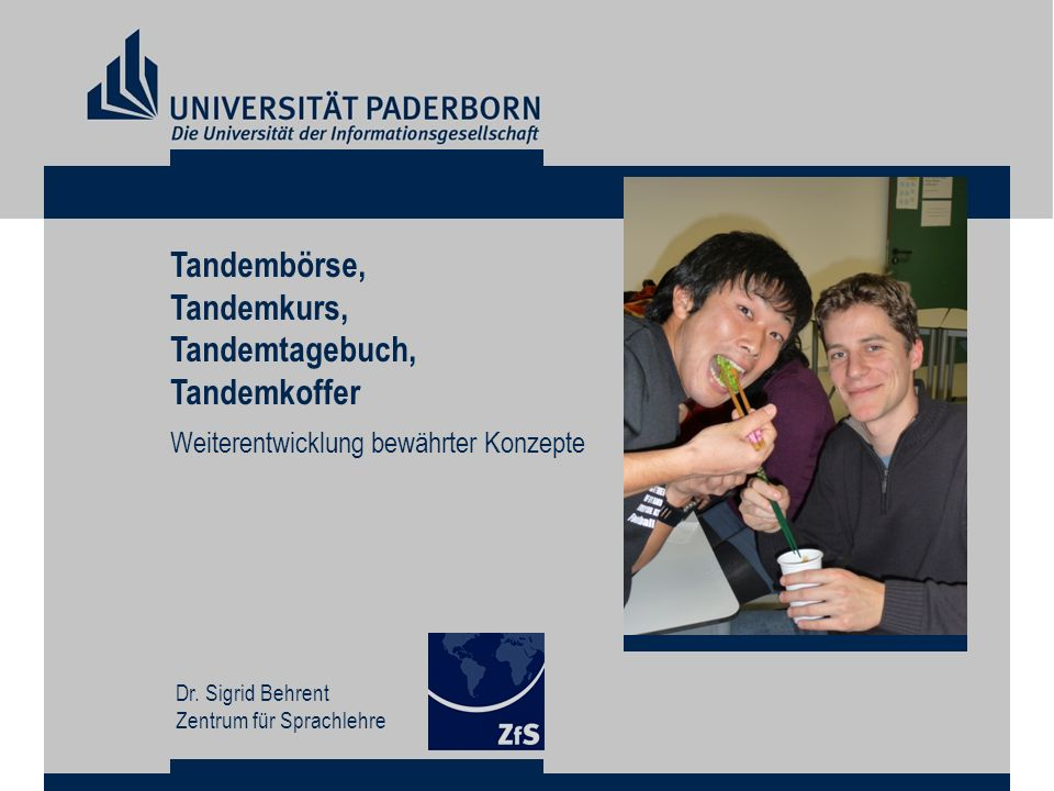 Tandembörse, Tandemkurs, Tandemtagebuch, Tandemkoffer
