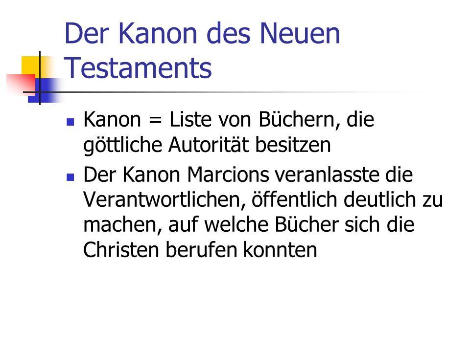 Der Kanon des Neuen Testaments