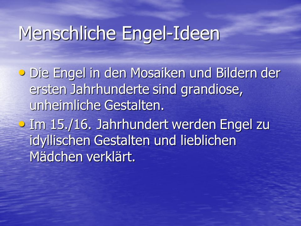 Menschliche Engel-Ideen