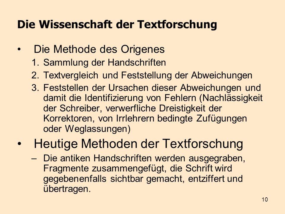 Die Wissenschaft der Textforschung