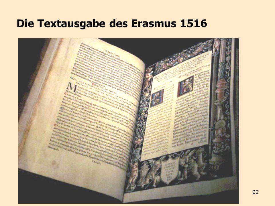 Die Textausgabe des Erasmus 1516