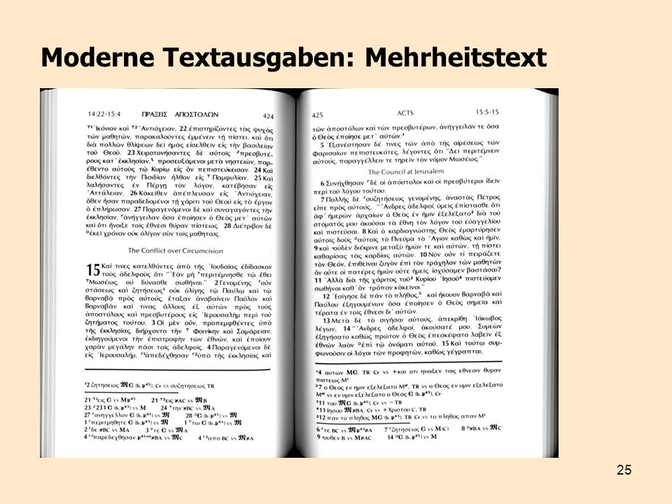 Moderne Textausgaben: Mehrheitstext
