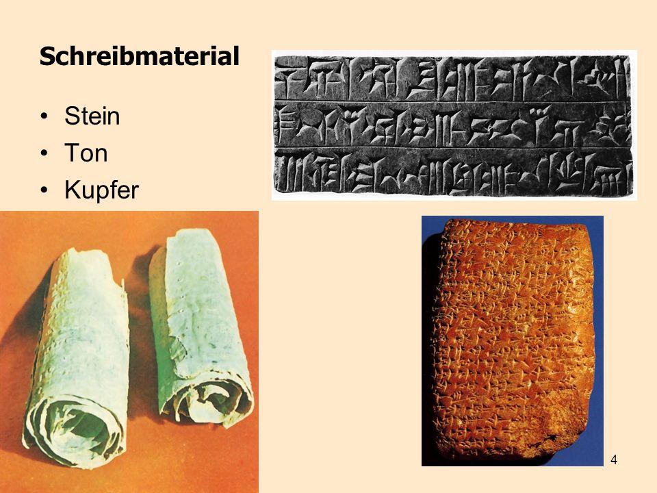 Schreibmaterial Stein Ton Kupfer