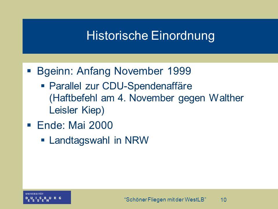 Historische Einordnung