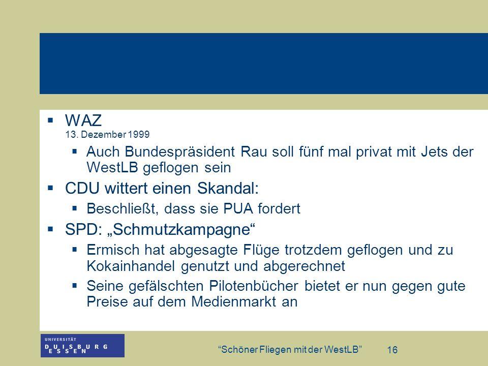 """CDU wittert einen Skandal: SPD: """"Schmutzkampagne"""