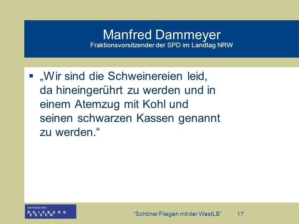 Manfred Dammeyer Fraktionsvorsitzender der SPD im Landtag NRW
