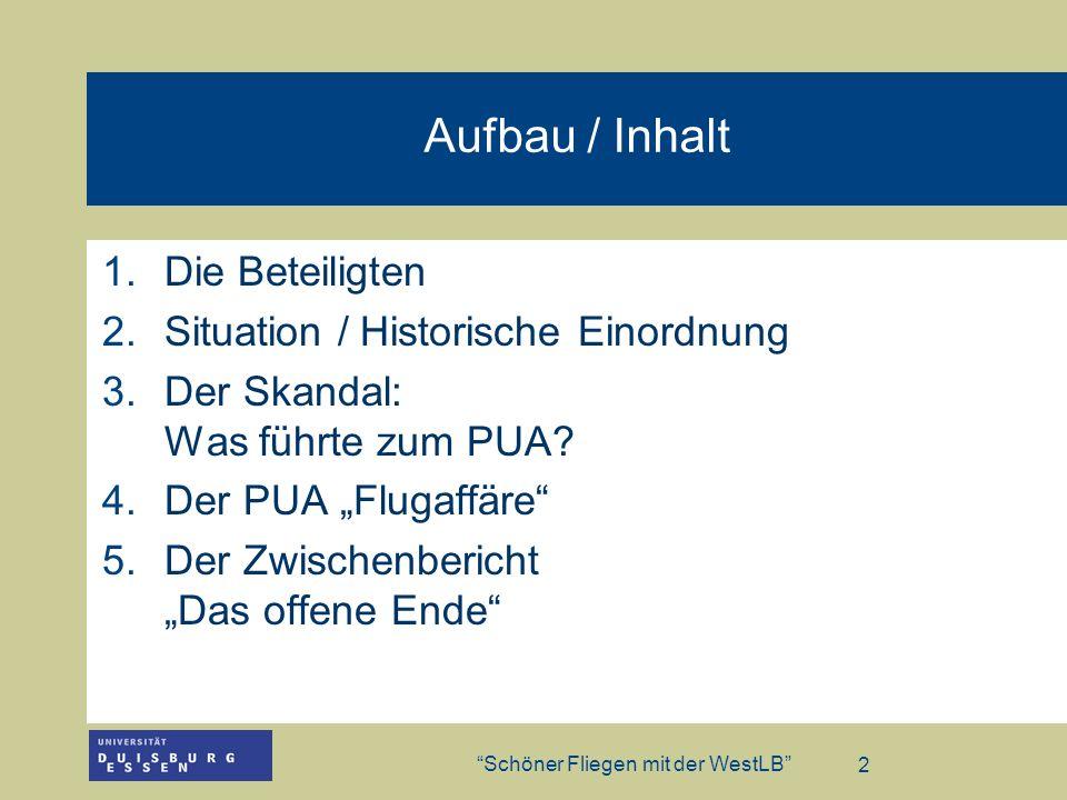 Aufbau / Inhalt Die Beteiligten Situation / Historische Einordnung