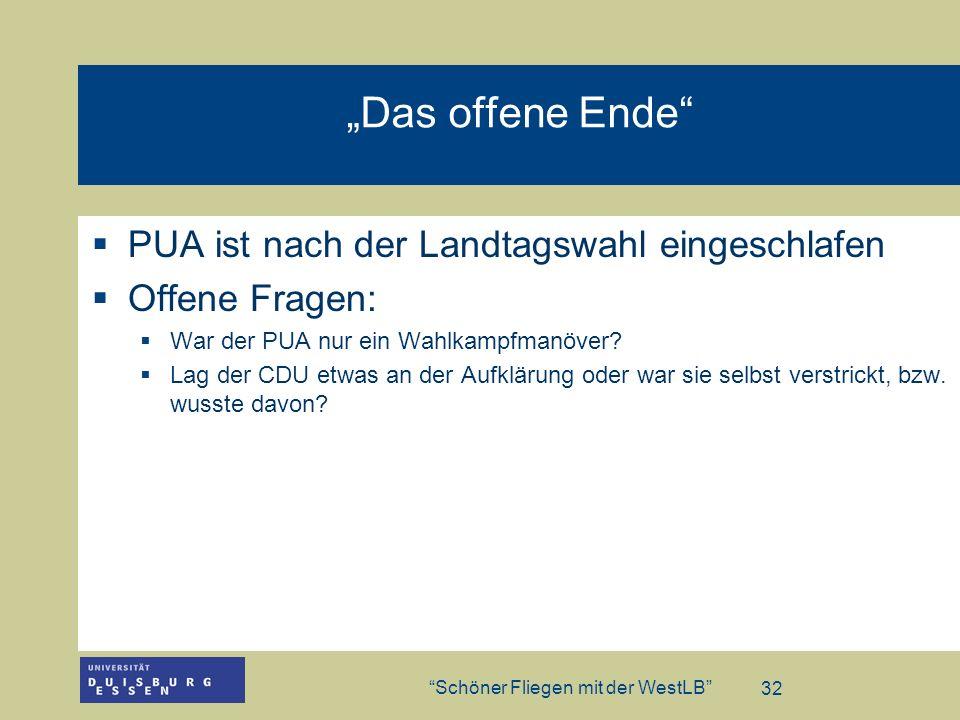 """""""Das offene Ende PUA ist nach der Landtagswahl eingeschlafen"""