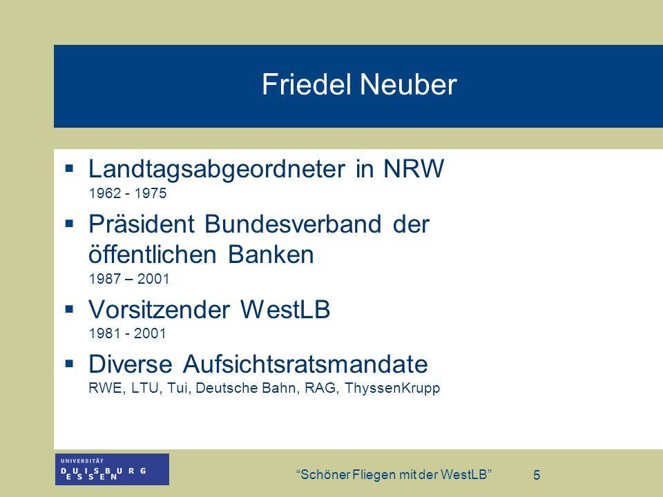 Friedel Neuber Landtagsabgeordneter in NRW 1962 - 1975