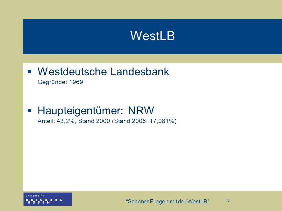 WestLB Westdeutsche Landesbank Gegründet 1969