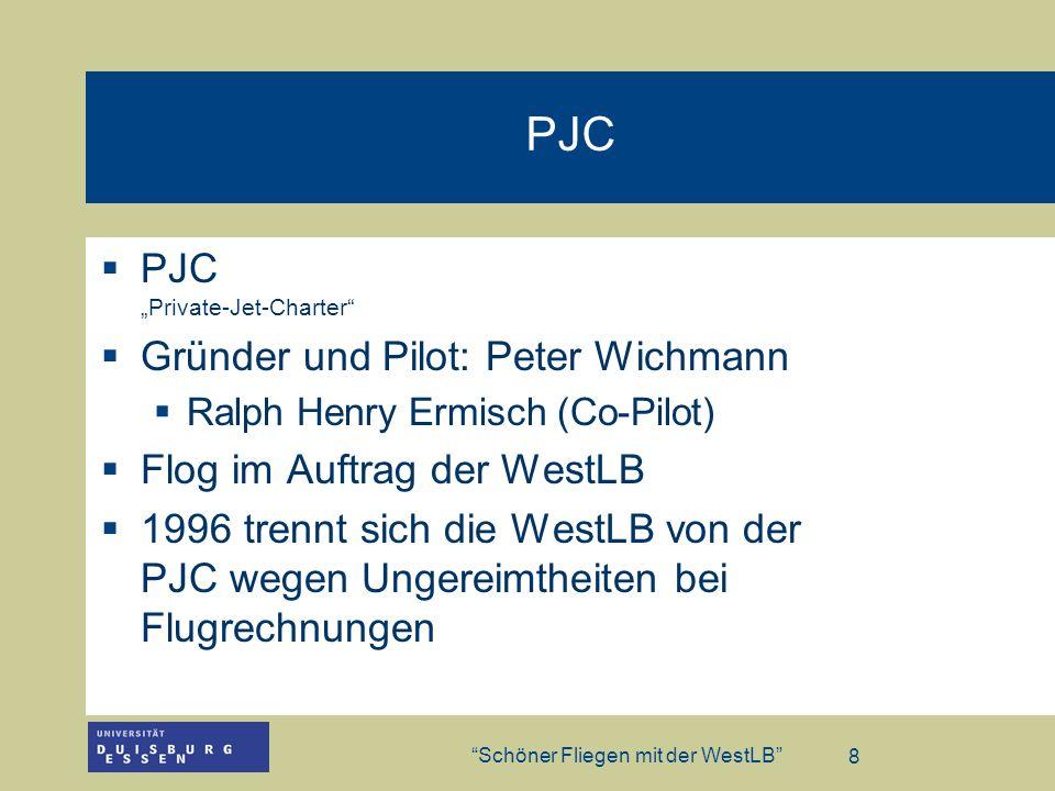 """PJC PJC """"Private-Jet-Charter Gründer und Pilot: Peter Wichmann"""