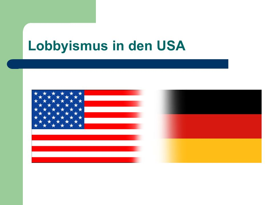 Lobbyismus in den USA