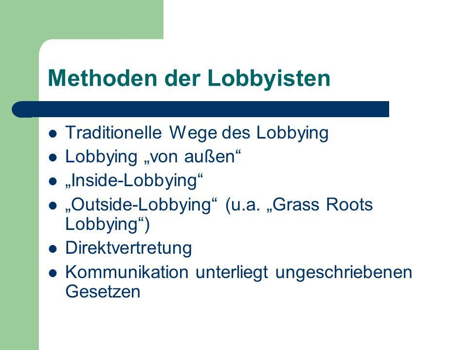 Methoden der Lobbyisten