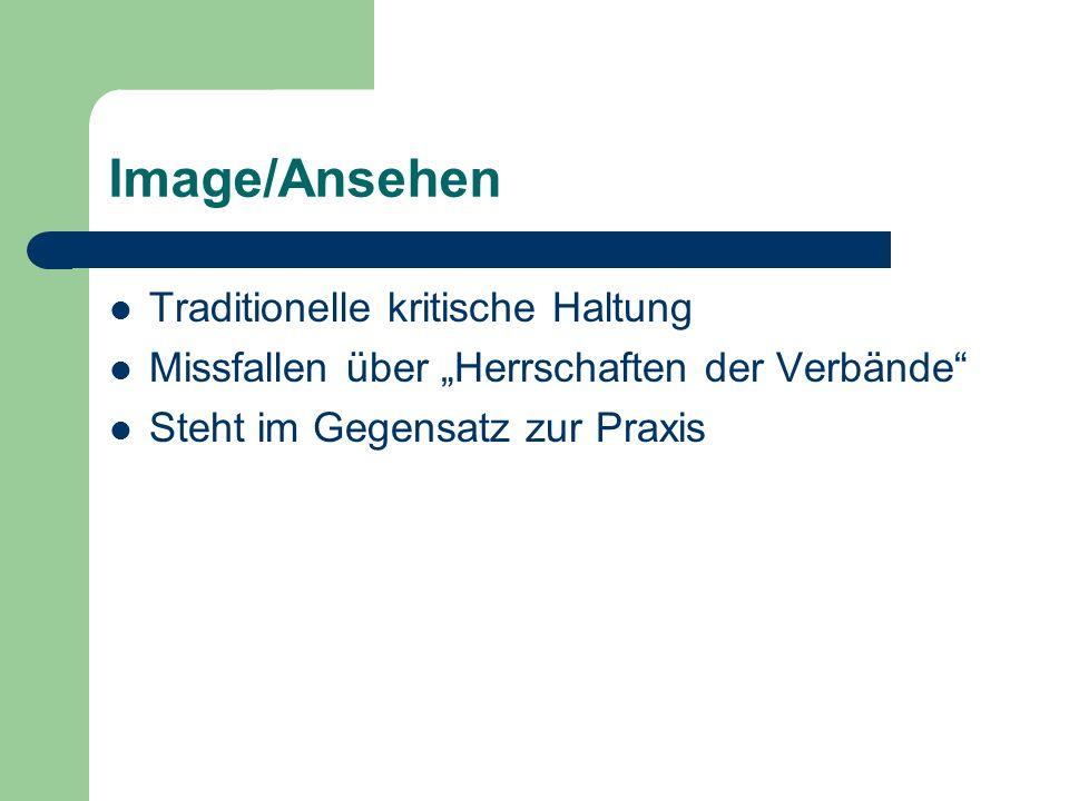 Image/Ansehen Traditionelle kritische Haltung