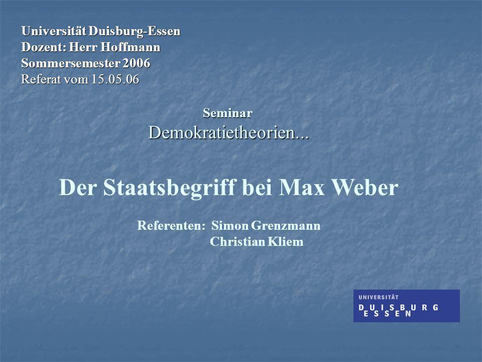 Referenten: Simon Grenzmann