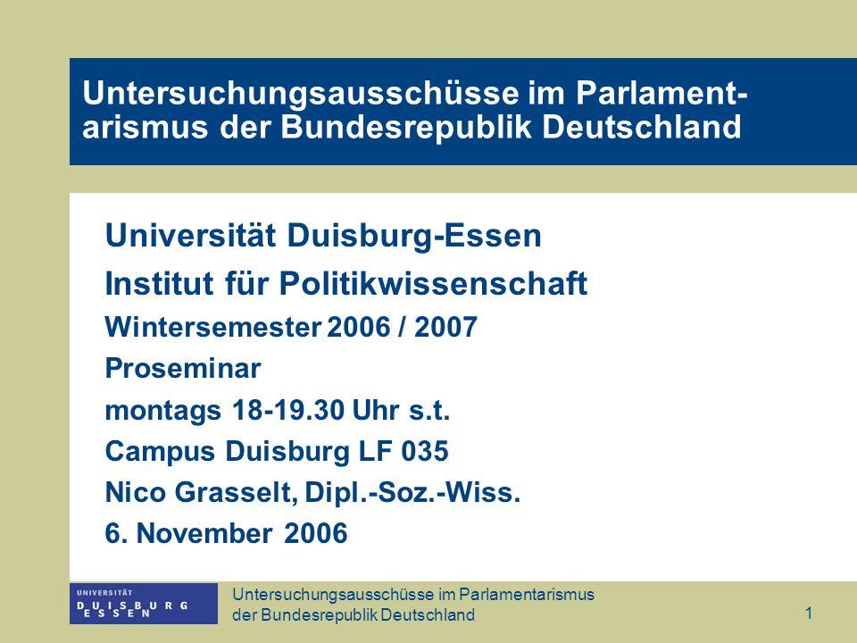 Universität Duisburg-Essen Institut für Politikwissenschaft