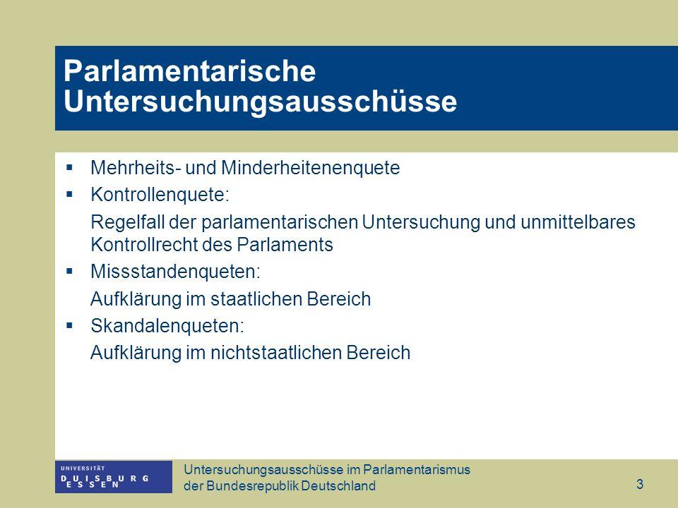 Parlamentarische Untersuchungsausschüsse