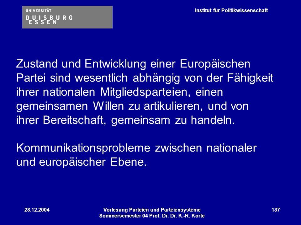 Kommunikationsprobleme zwischen nationaler und europäischer Ebene.