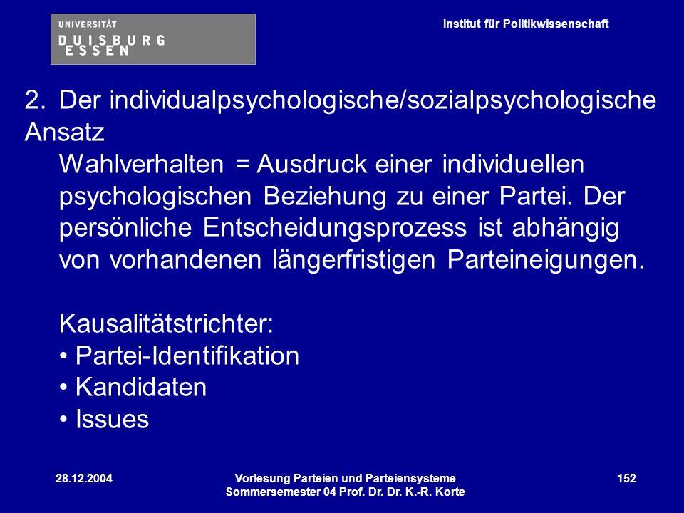 2. Der individualpsychologische/sozialpsychologische Ansatz