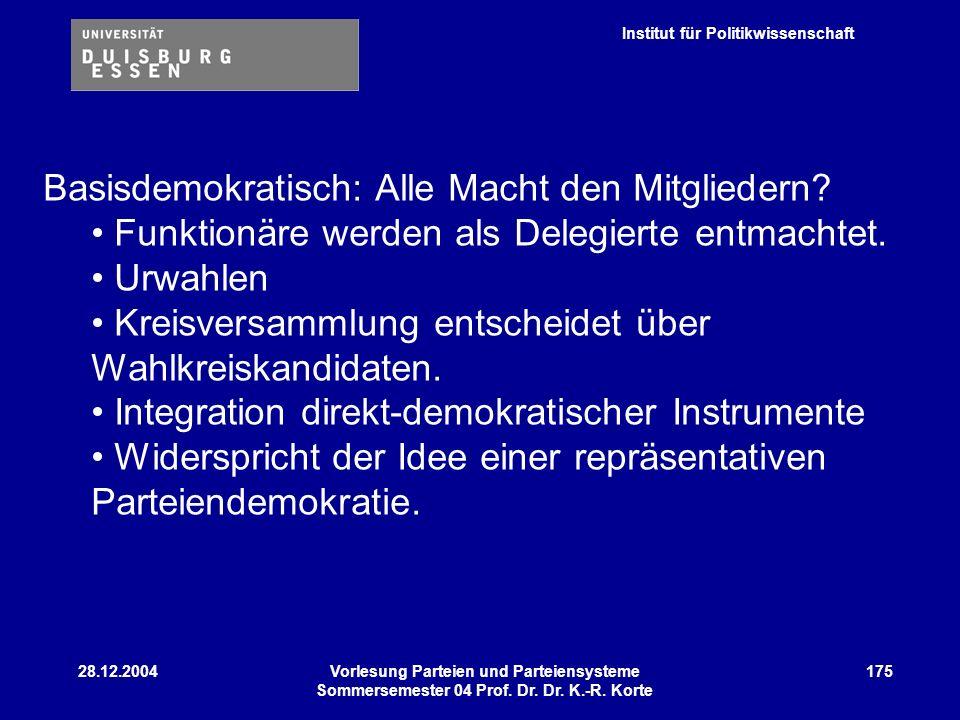 Basisdemokratisch: Alle Macht den Mitgliedern