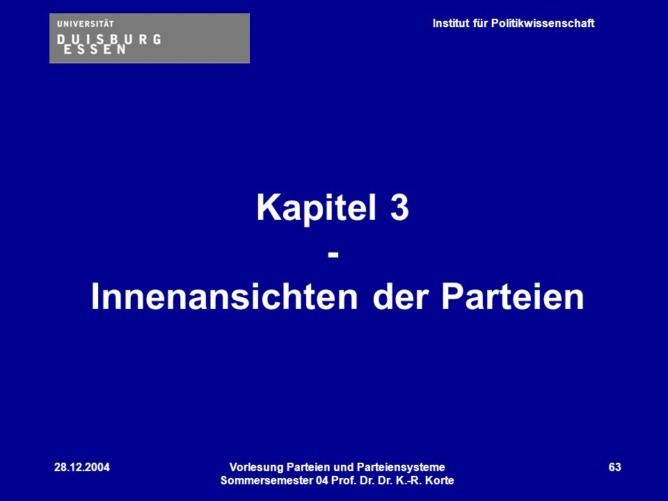 Kapitel 3 - Innenansichten der Parteien