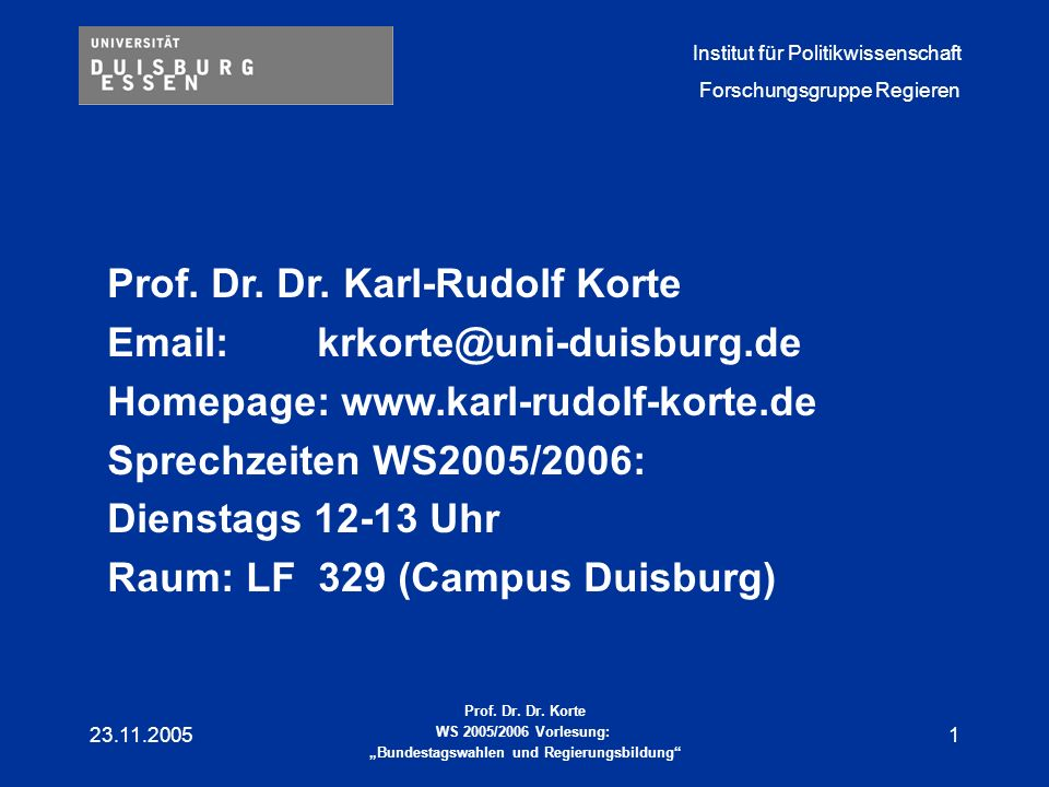 Prof. Dr. Dr. Karl-Rudolf Korte